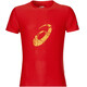 asics Graphic SS Top Men fiery red